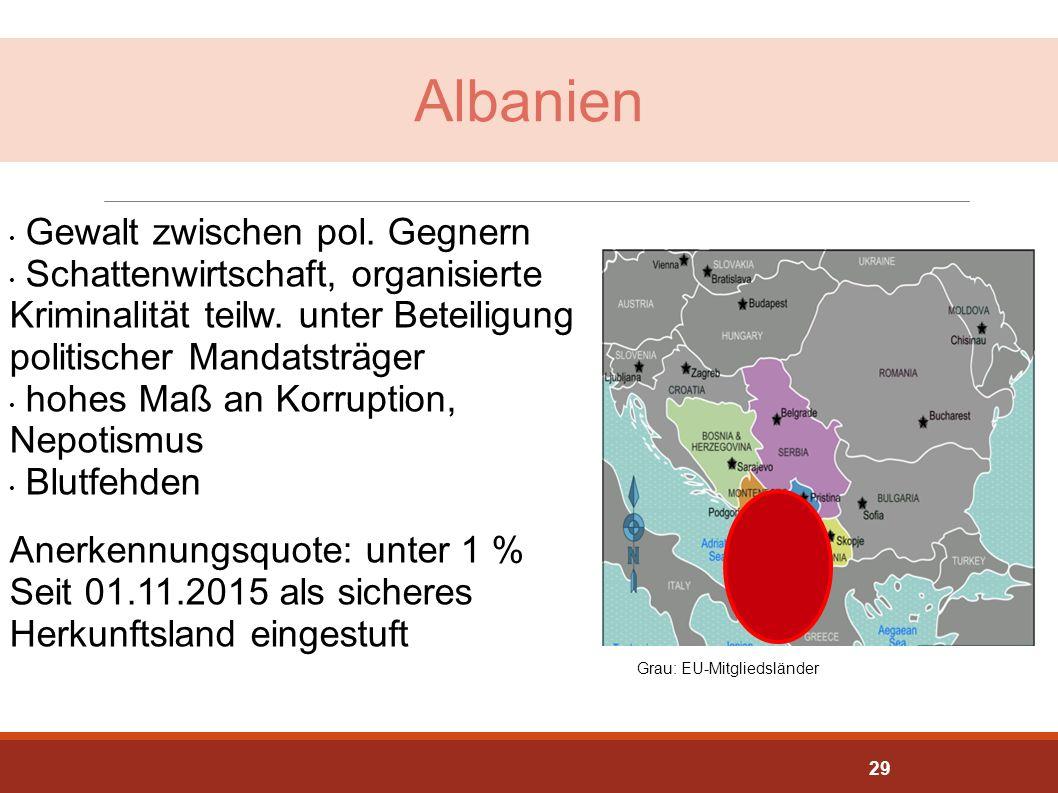 Albanien Gewalt zwischen pol. Gegnern