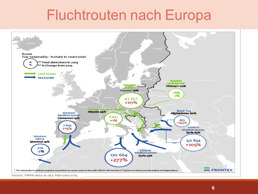 Fluchtrouten nach Europa