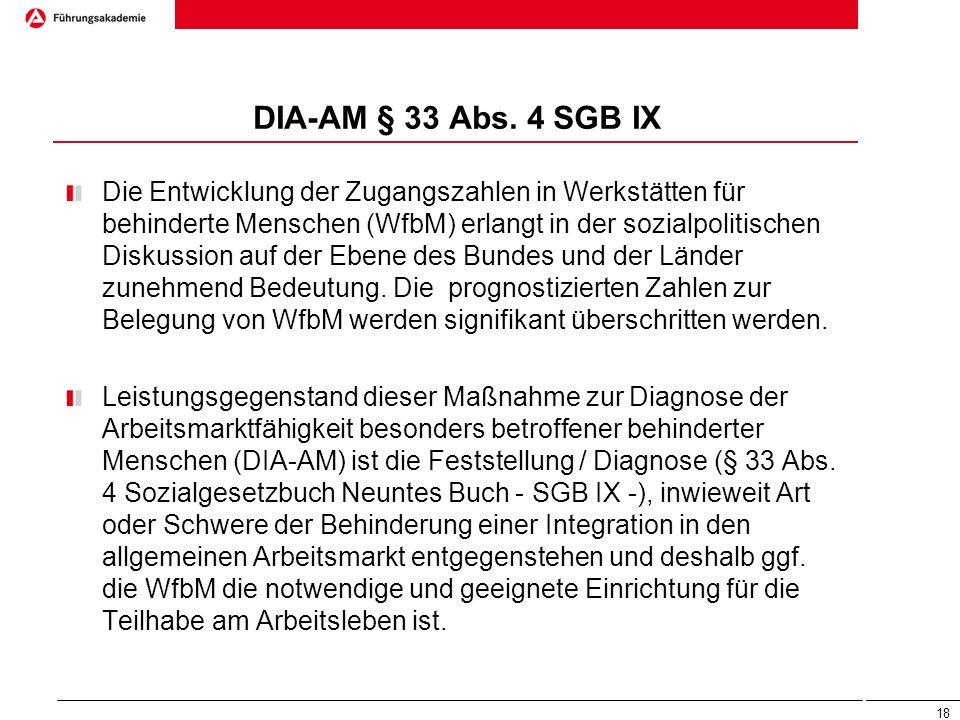 DIA-AM § 33 Abs. 4 SGB IX