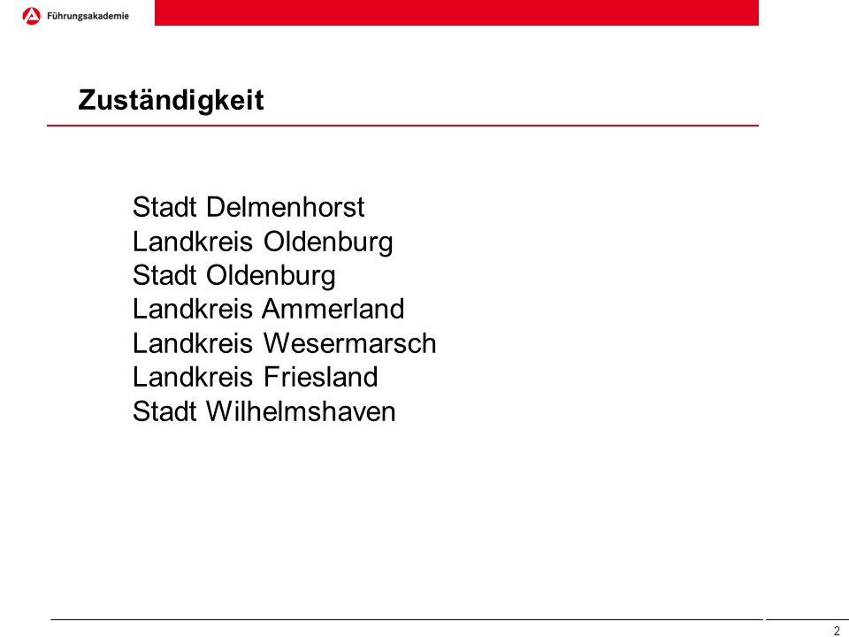 Zuständigkeit Stadt Delmenhorst. Landkreis Oldenburg. Stadt Oldenburg. Landkreis Ammerland. Landkreis Wesermarsch.