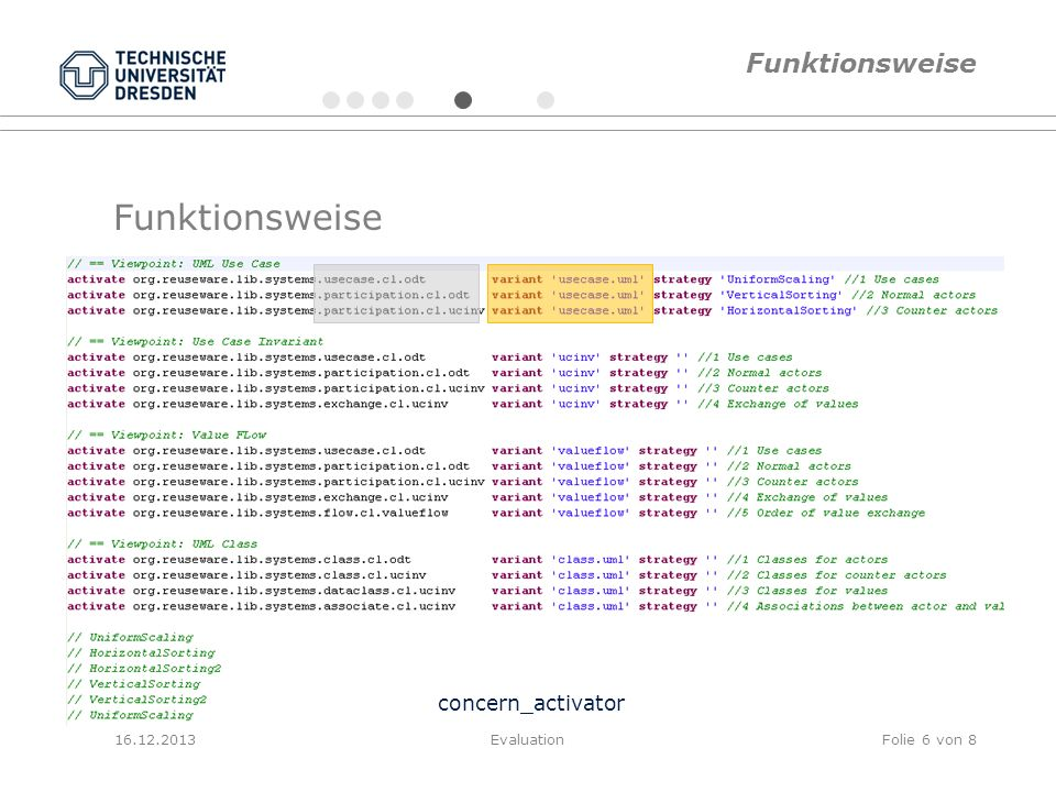 Funktionsweise Funktionsweise concern_activator