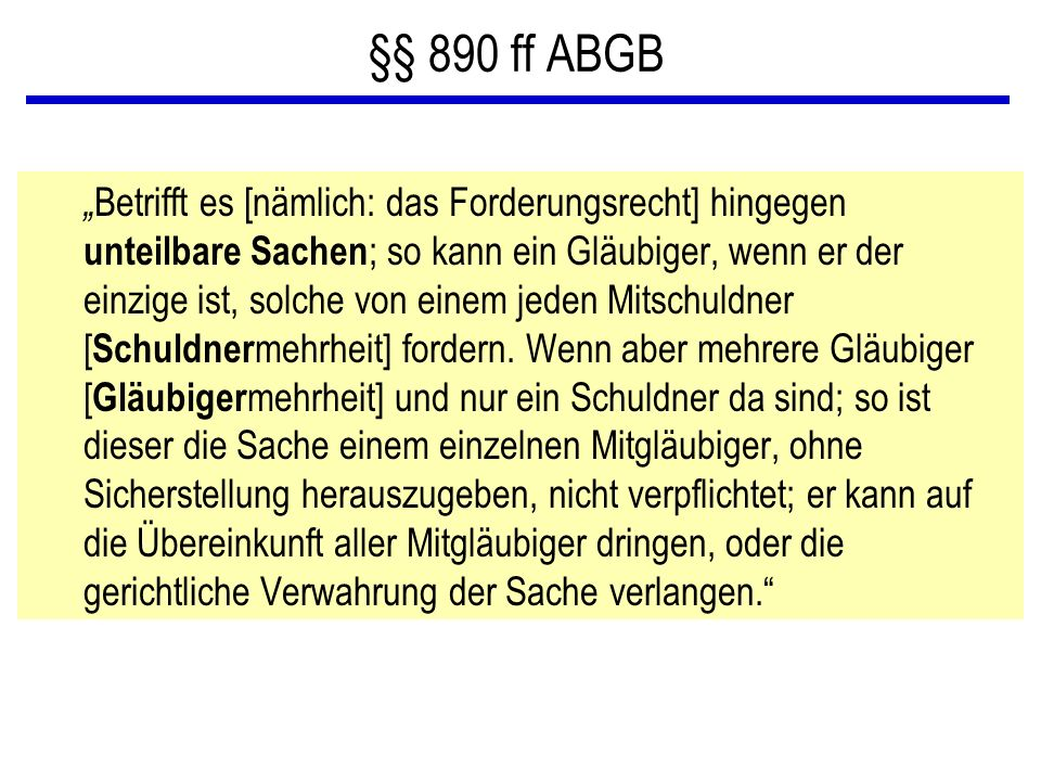 §§ 890 ff ABGB