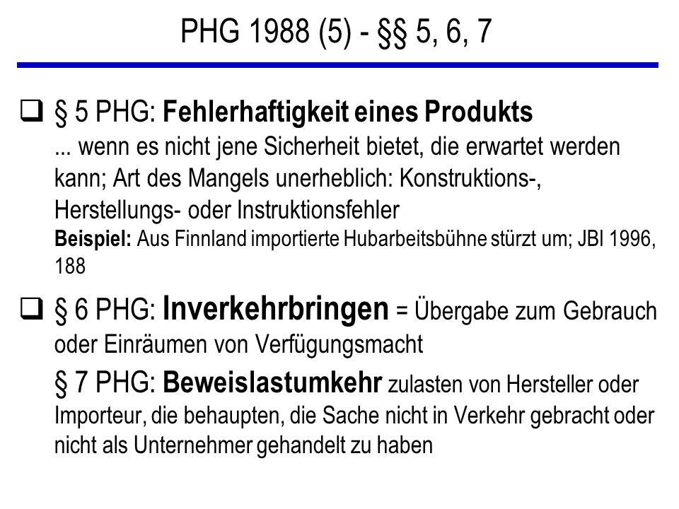 PHG 1988 (5) - §§ 5, 6, 7
