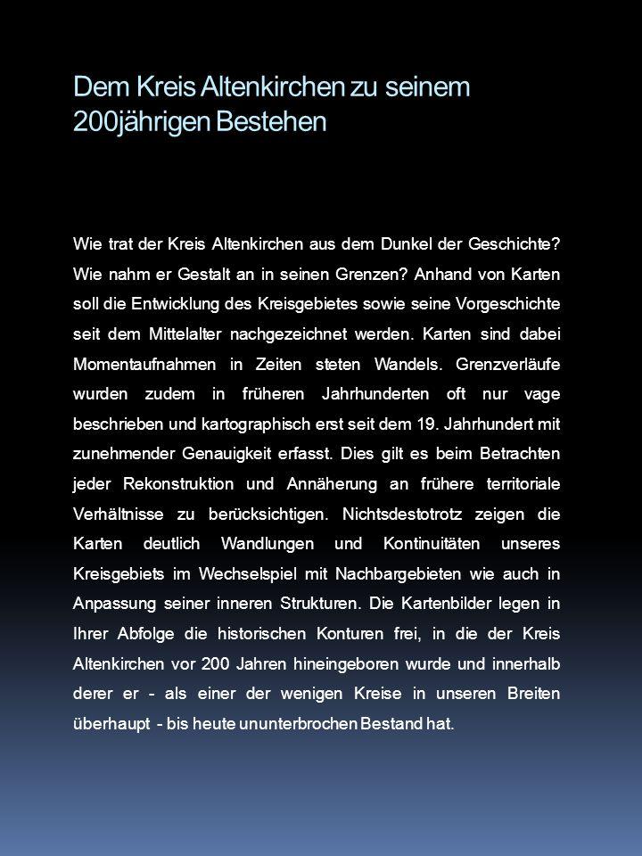 Dem Kreis Altenkirchen zu seinem 200jährigen Bestehen