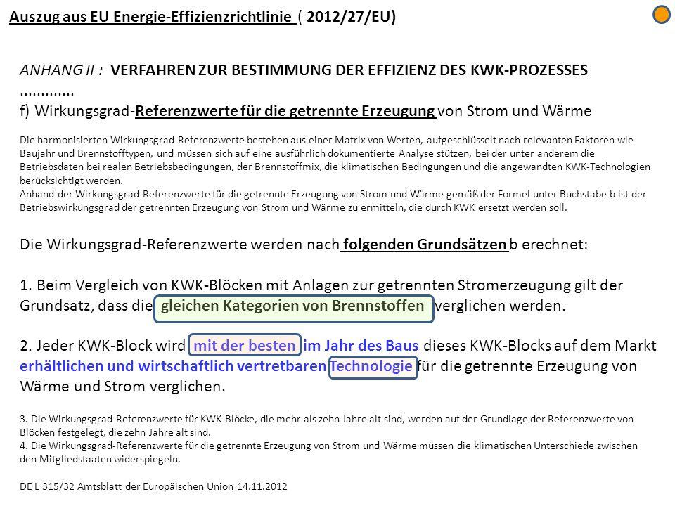 Auszug aus EU Energie-Effizienzrichtlinie ( 2012/27/EU)