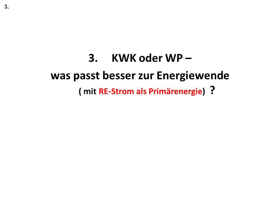 3. 3. KWK oder WP – was passt besser zur Energiewende ( mit RE-Strom als Primärenergie)