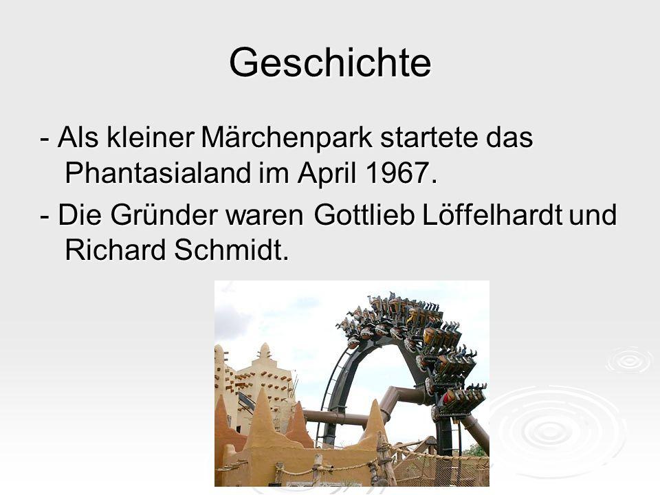 Geschichte - Als kleiner Märchenpark startete das Phantasialand im April 1967.