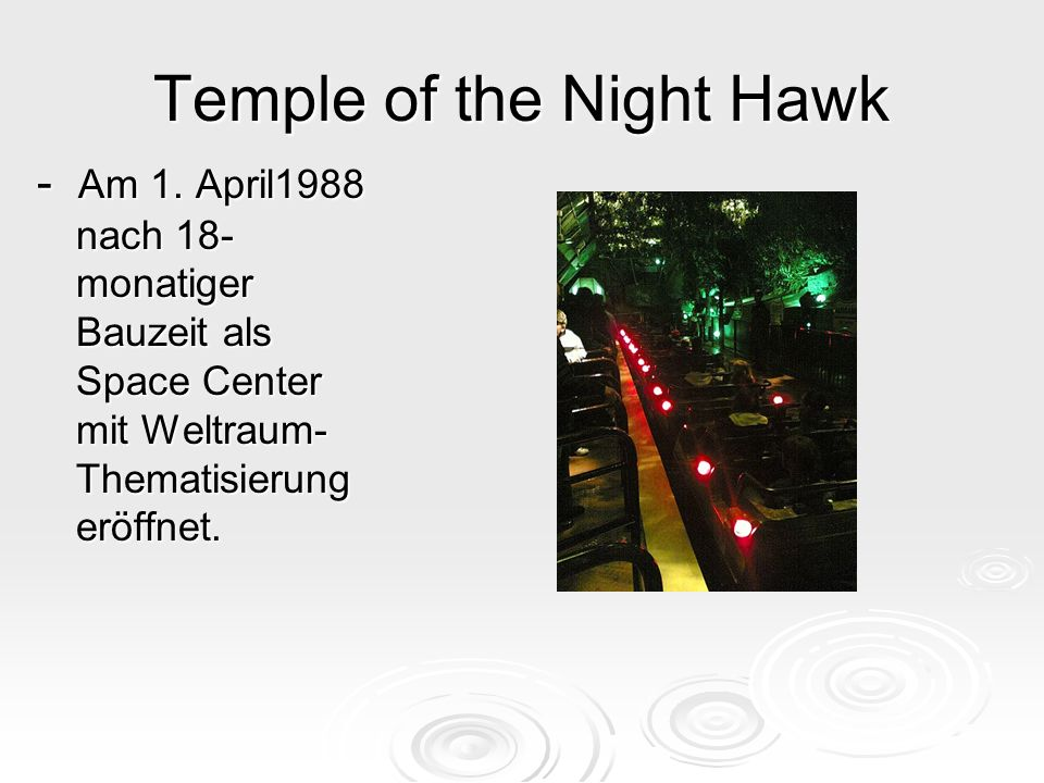 Temple of the Night Hawk