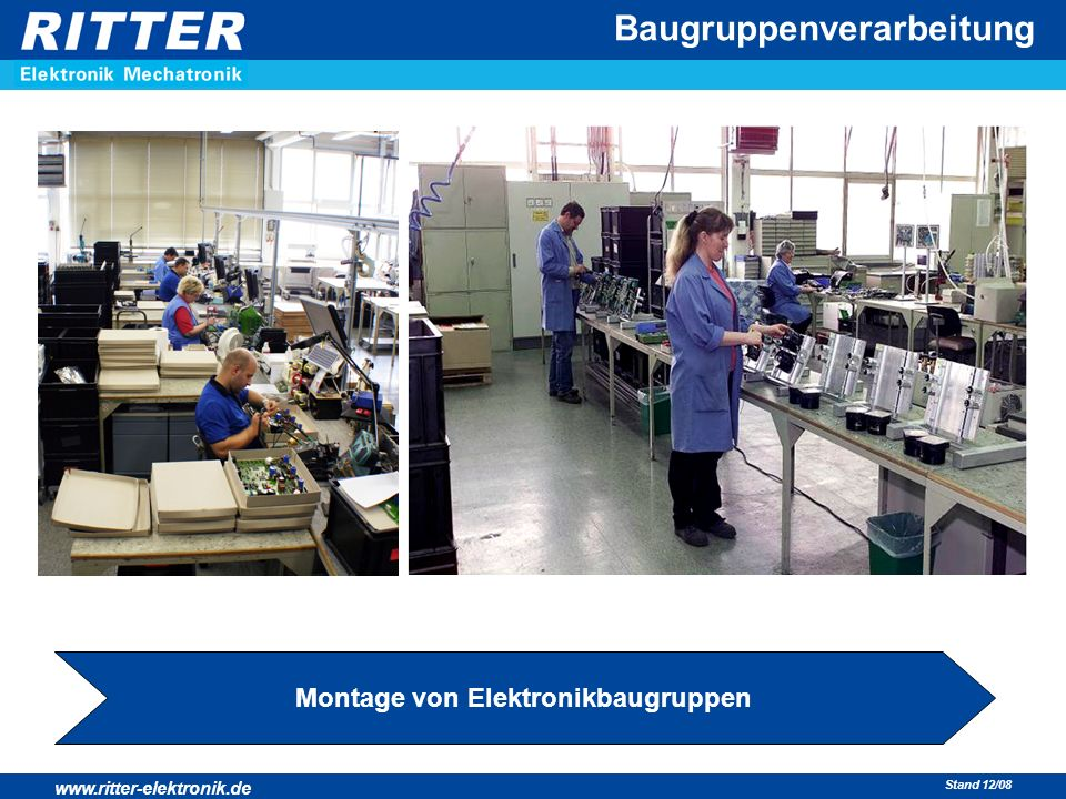 Montage von Elektronikbaugruppen