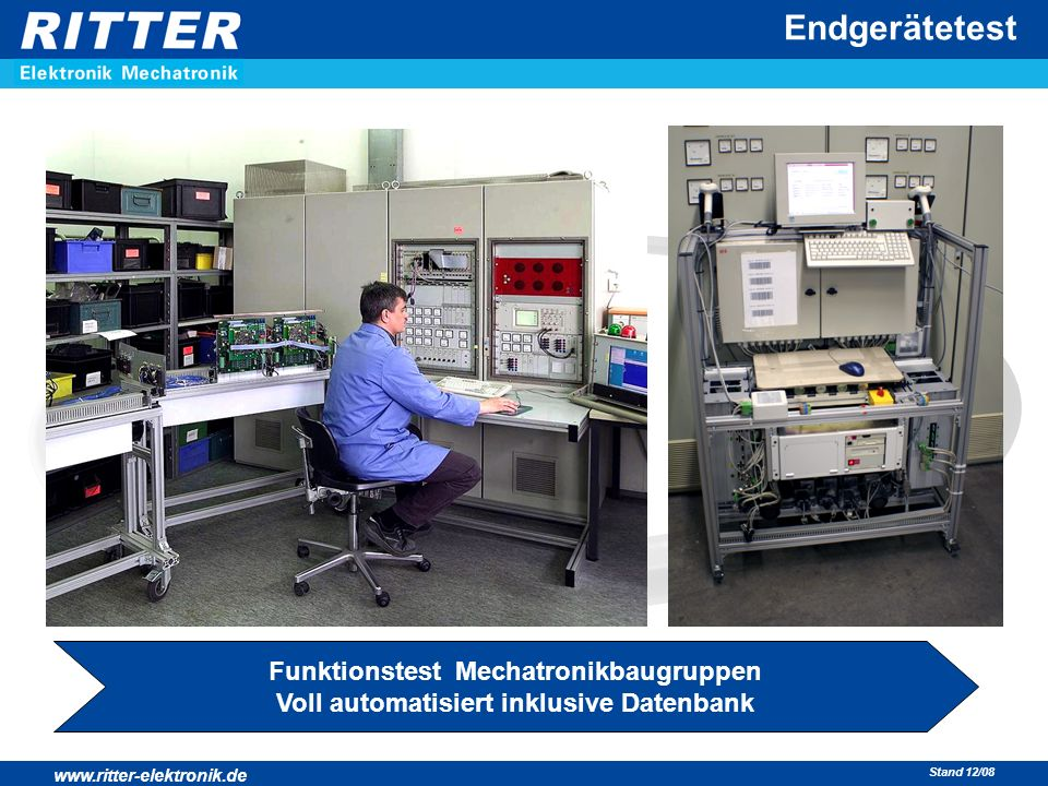 Endgerätetest Funktionstest Mechatronikbaugruppen