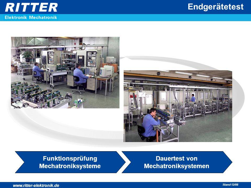 Funktionsprüfung Mechatroniksysteme Dauertest von Mechatroniksystemen