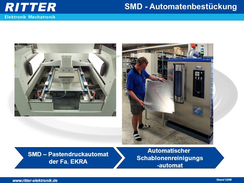 SMD – Pastendruckautomat Automatischer Schablonenreinigungs