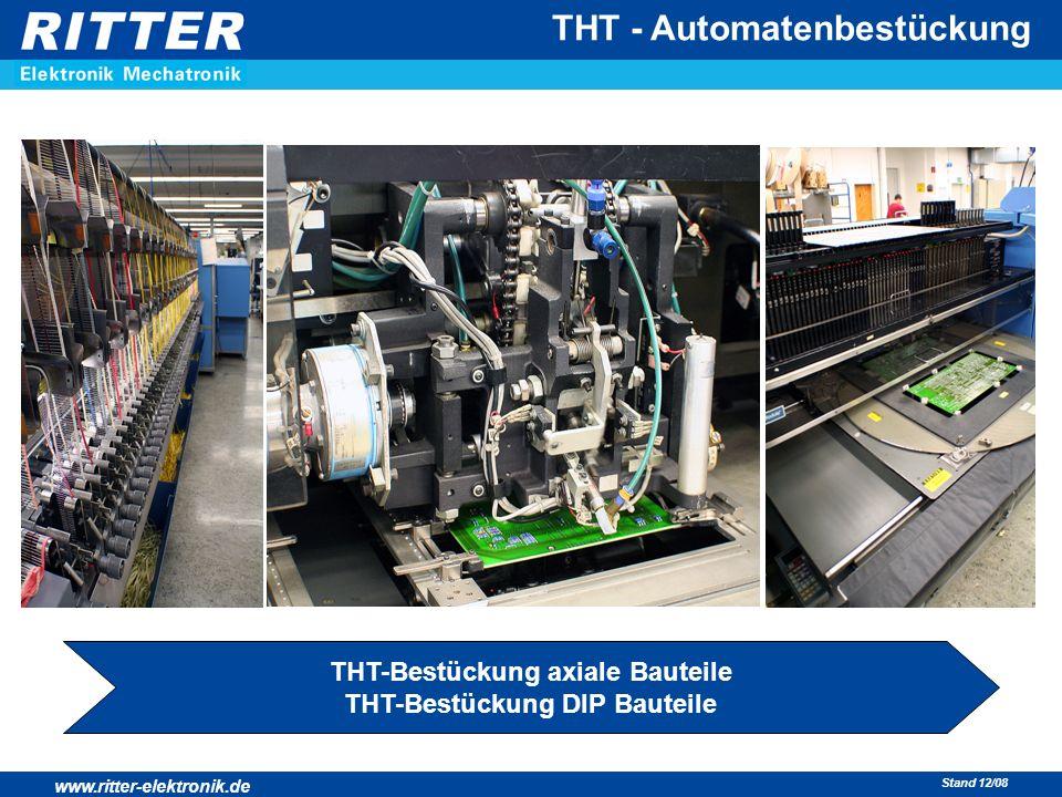 THT-Bestückung axiale Bauteile THT-Bestückung DIP Bauteile