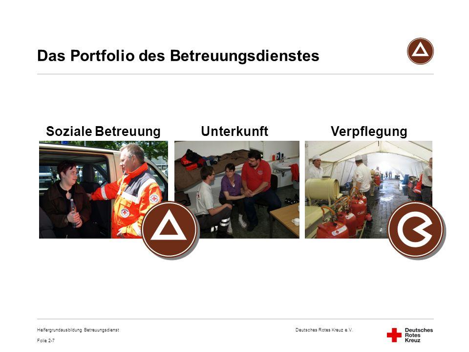 Das Portfolio des Betreuungsdienstes