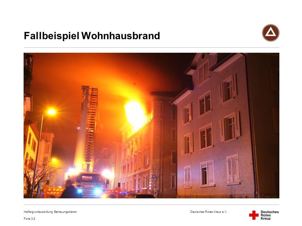 Fallbeispiel Wohnhausbrand