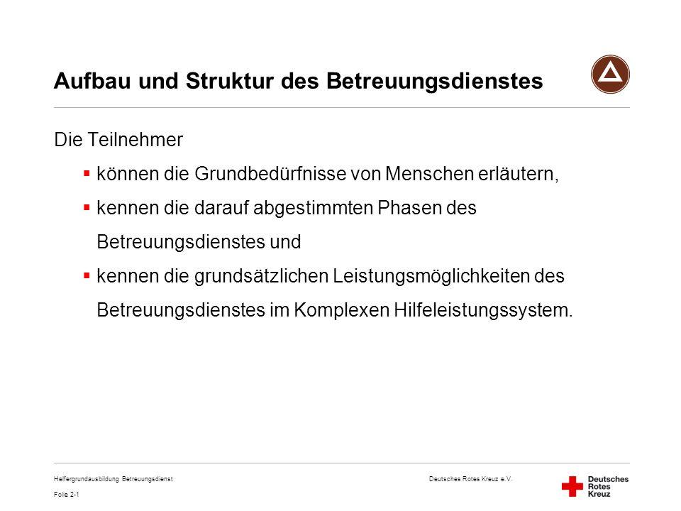 Aufbau und Struktur des Betreuungsdienstes