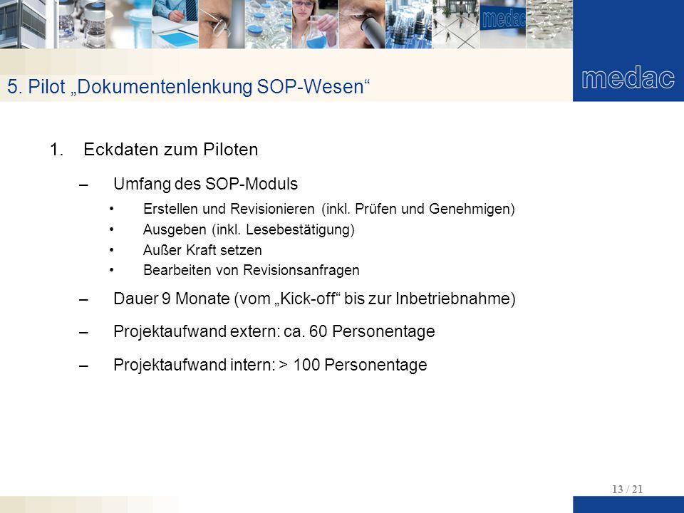 "5. Pilot ""Dokumentenlenkung SOP-Wesen"