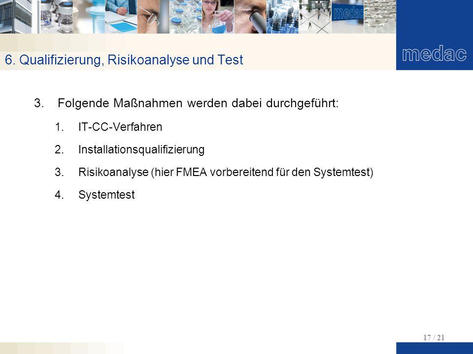 6. Qualifizierung, Risikoanalyse und Test