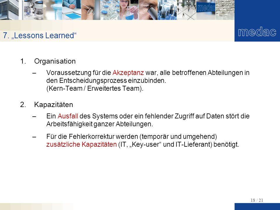 "7. ""Lessons Learned Organisation Kapazitäten"