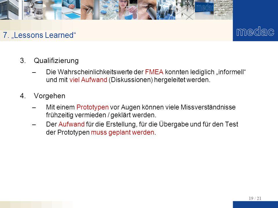 """7. """"Lessons Learned Qualifizierung Vorgehen"""