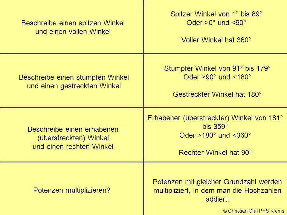 Spitzer Winkel von 1° bis 89° Oder >0° und <90°