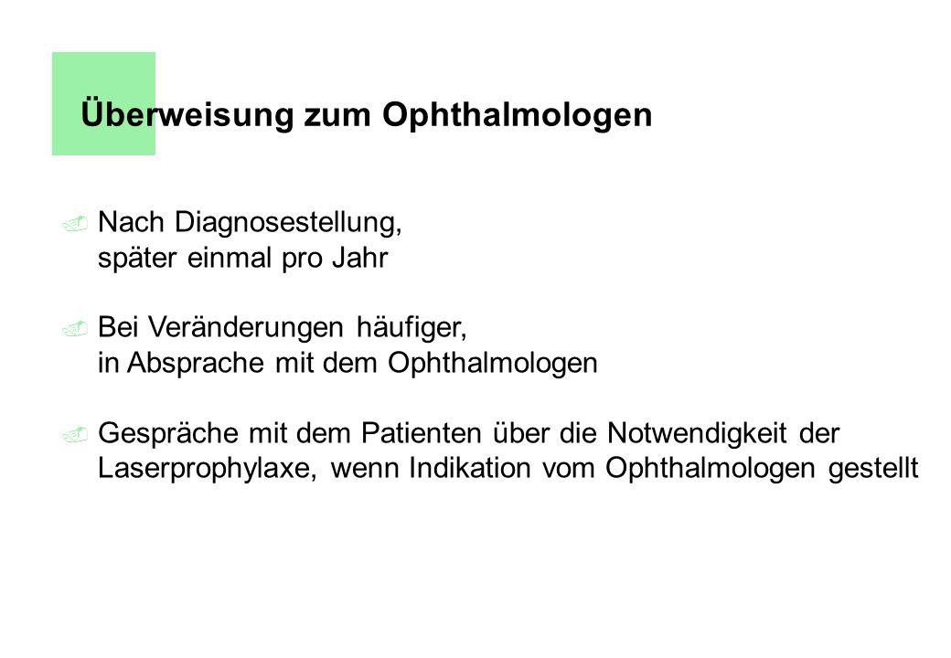 Überweisung zum Ophthalmologen