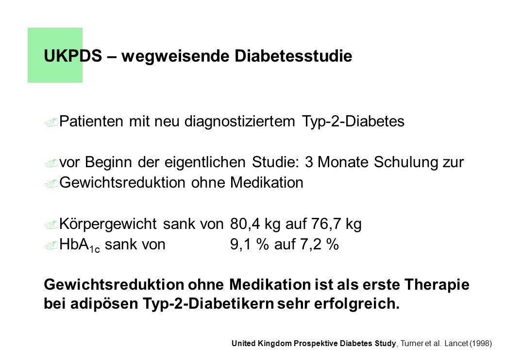 UKPDS – wegweisende Diabetesstudie
