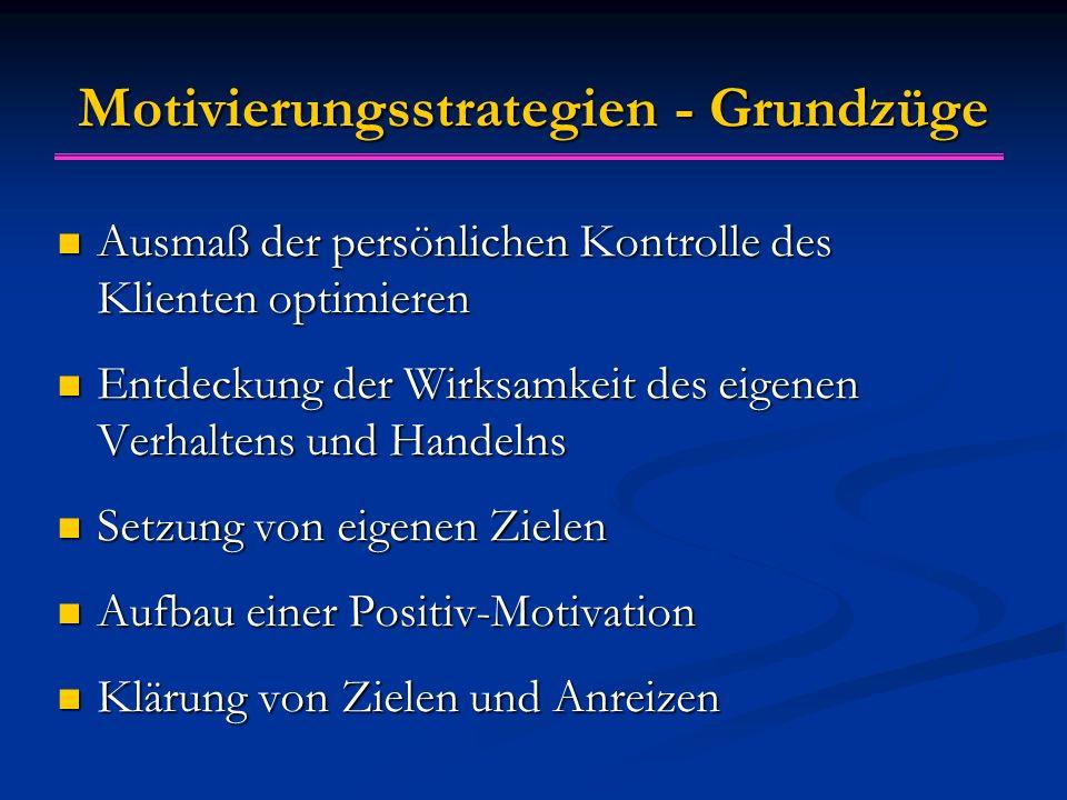 Motivierungsstrategien - Grundzüge
