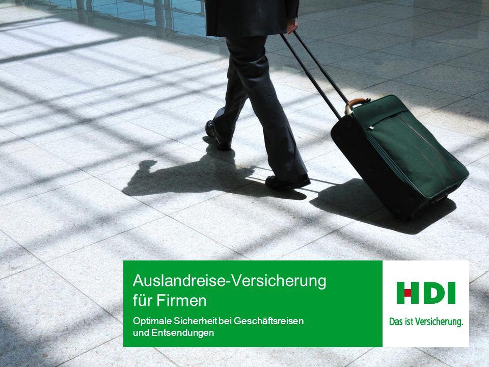 Auslandreise-Versicherung für Firmen