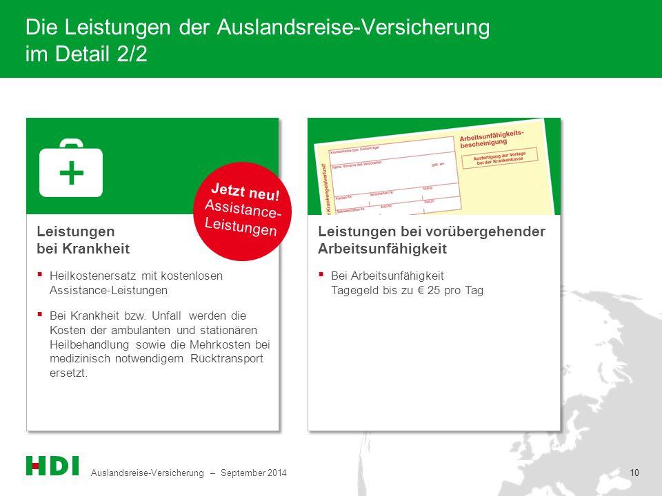 Die Leistungen der Auslandsreise-Versicherung im Detail 2/2
