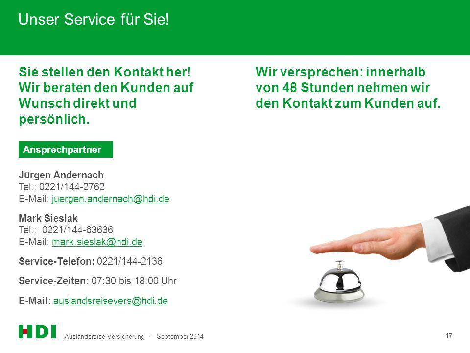 Unser Service für Sie! Sie stellen den Kontakt her! Wir beraten den Kunden auf Wunsch direkt und persönlich.