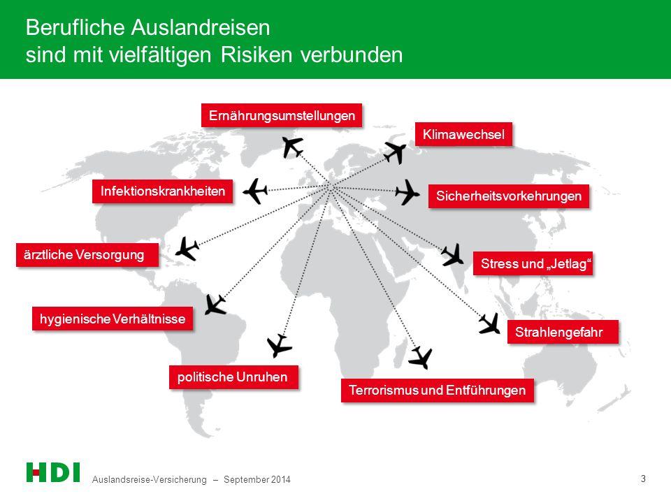 Berufliche Auslandreisen sind mit vielfältigen Risiken verbunden
