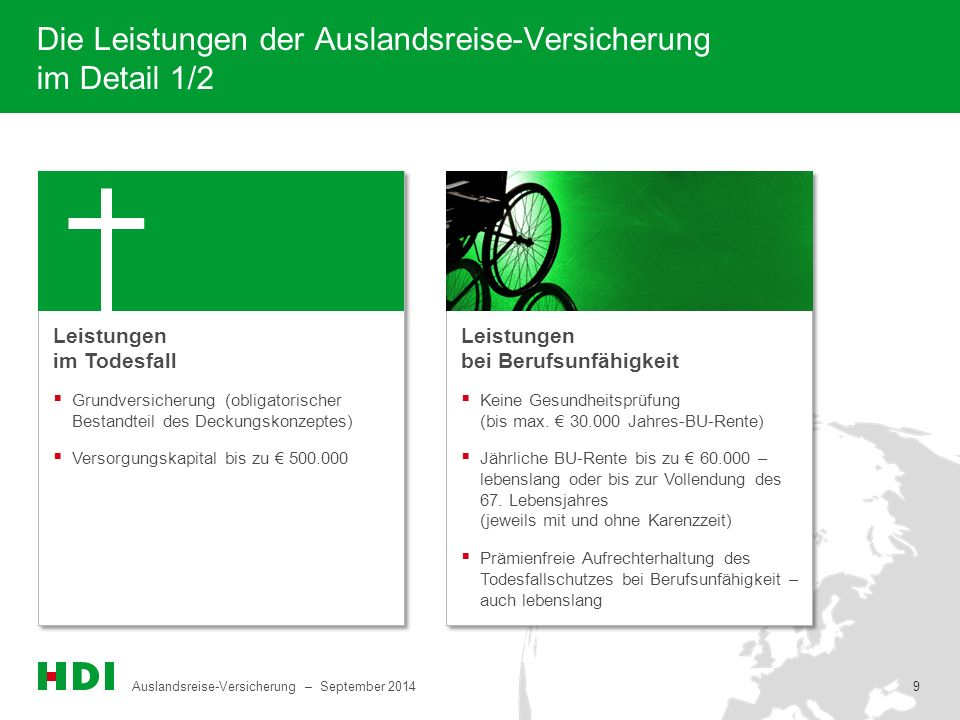 Die Leistungen der Auslandsreise-Versicherung im Detail 1/2