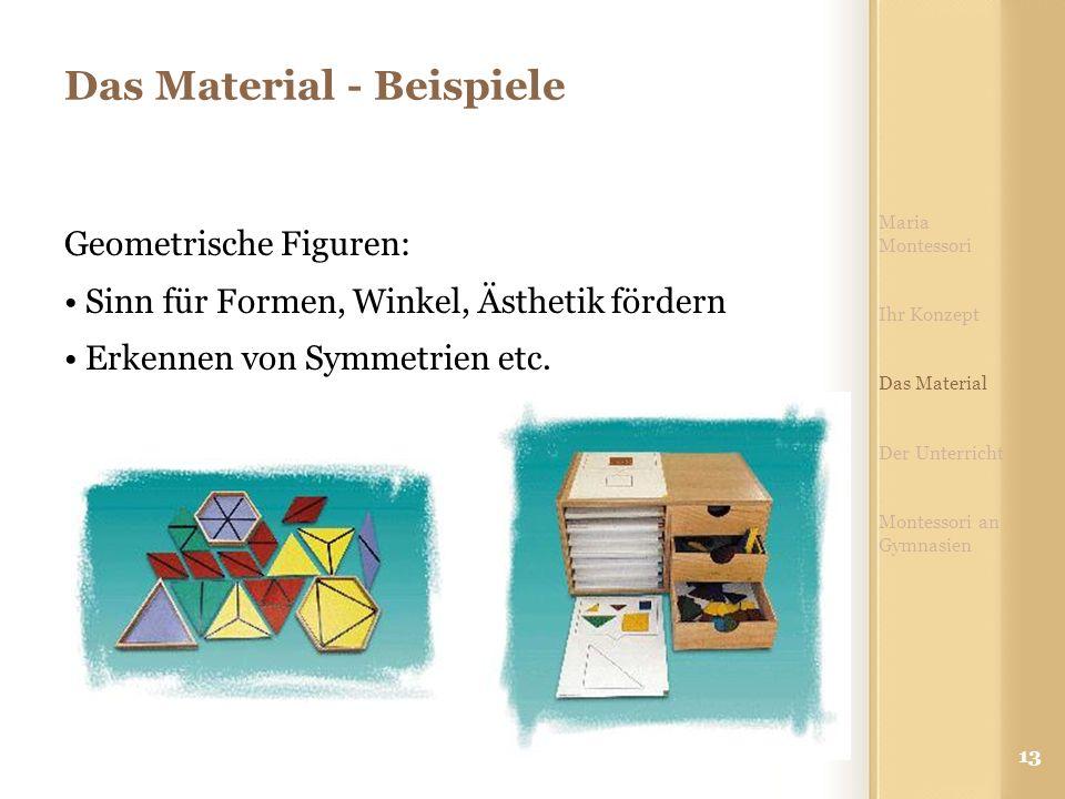 Das Material - Beispiele