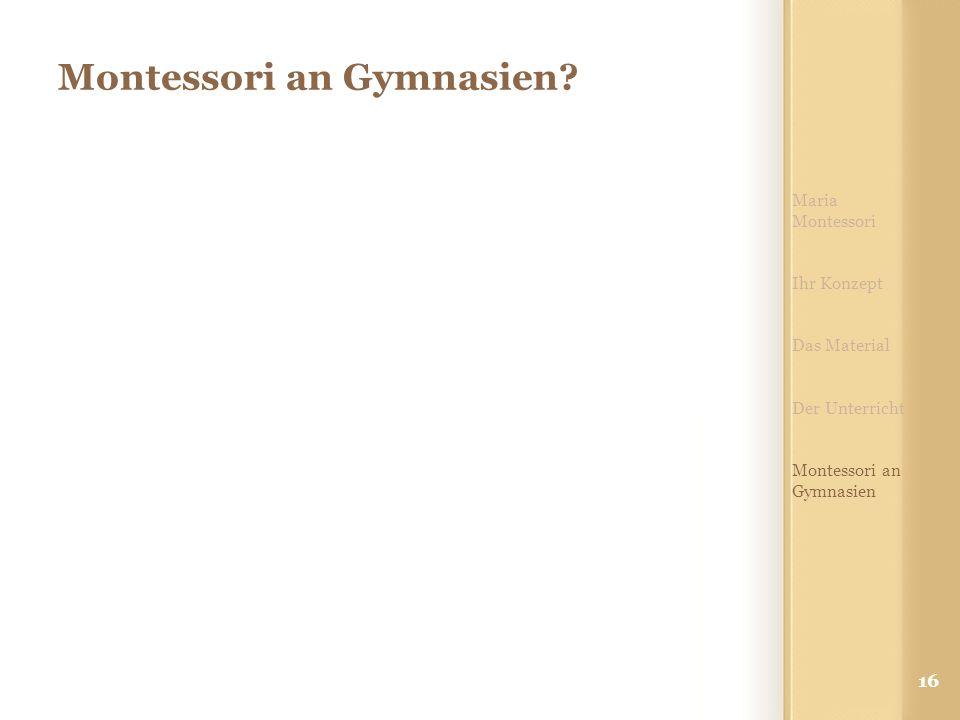 Montessori an Gymnasien