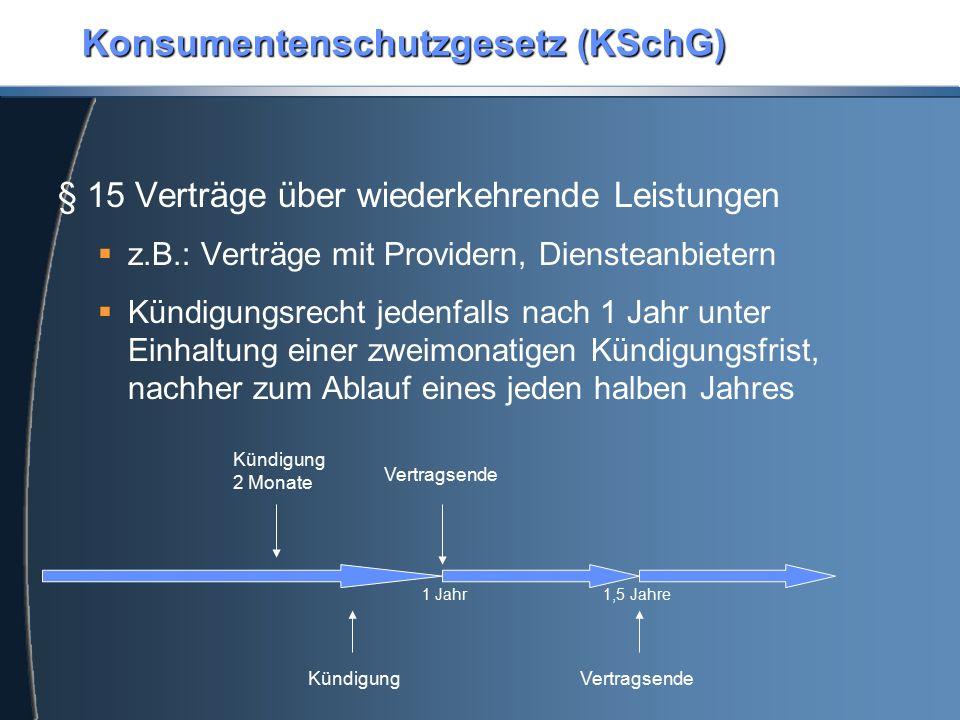 Konsumentenschutzgesetz (KSchG)