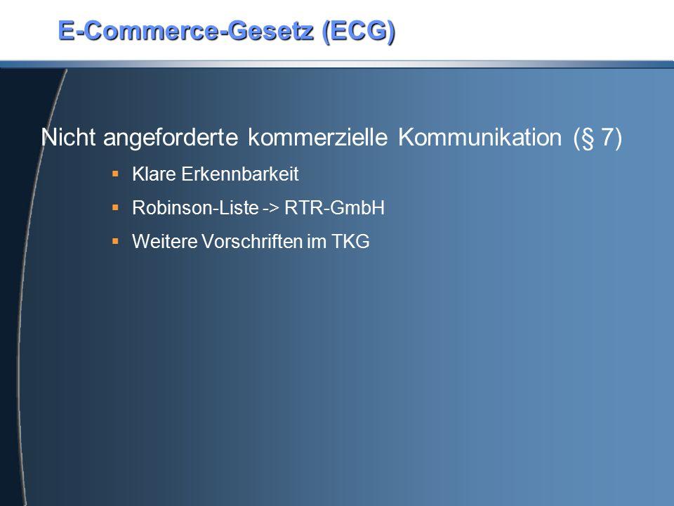 E-Commerce-Gesetz (ECG)