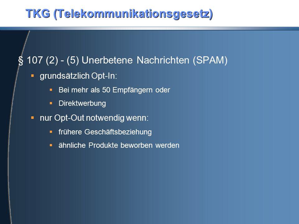 TKG (Telekommunikationsgesetz)