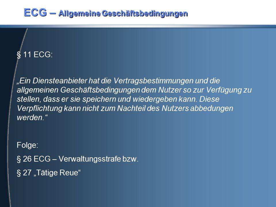 ECG – Allgemeine Geschäftsbedingungen