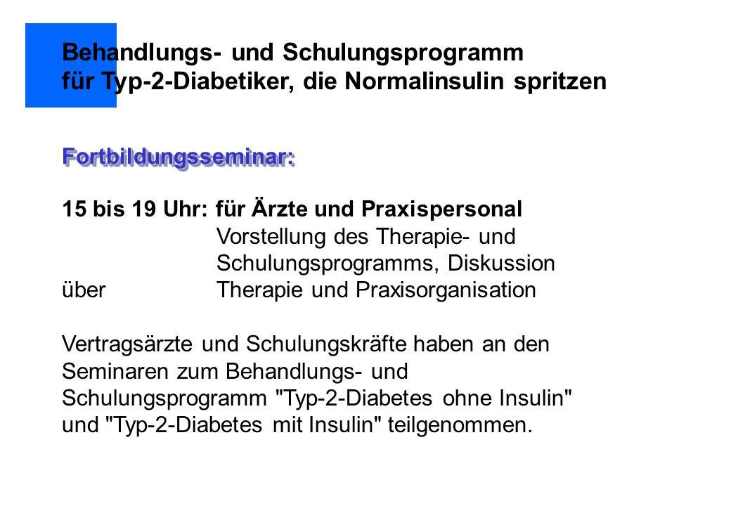 Behandlungs- und Schulungsprogramm