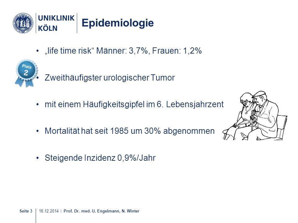 "Epidemiologie ""life time risk Männer: 3,7%, Frauen: 1,2%"