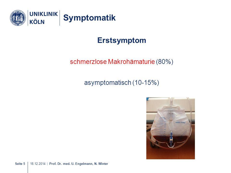 schmerzlose Makrohämaturie (80%)