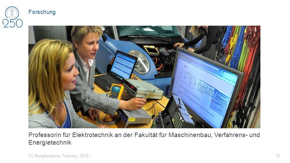 Forschung Professorin für Elektrotechnik an der Fakultät für Maschinenbau, Verfahrens- und Energietechnik.