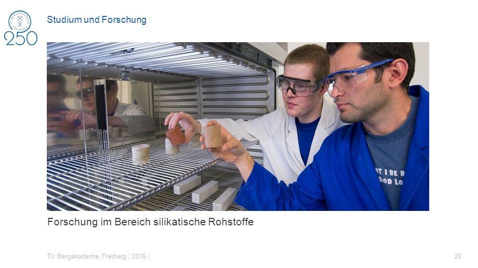Forschung im Bereich silikatische Rohstoffe