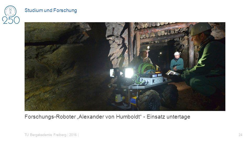 """Forschungs-Roboter """"Alexander von Humboldt - Einsatz untertage"""