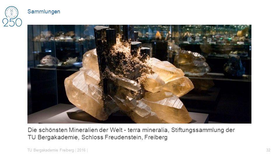 Sammlungen Die schönsten Mineralien der Welt - terra mineralia, Stiftungssammlung der TU Bergakademie, Schloss Freudenstein, Freiberg.