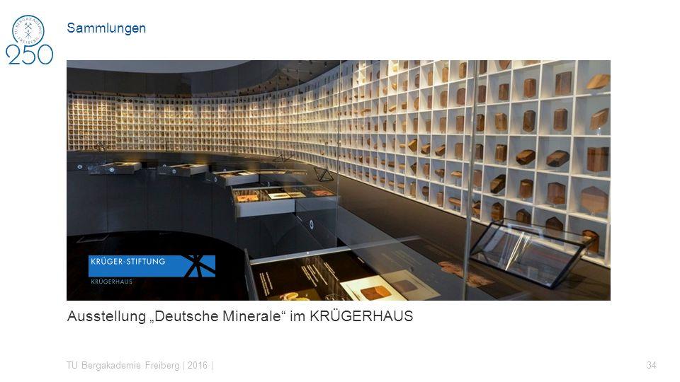 """Ausstellung """"Deutsche Minerale im KRÜGERHAUS"""