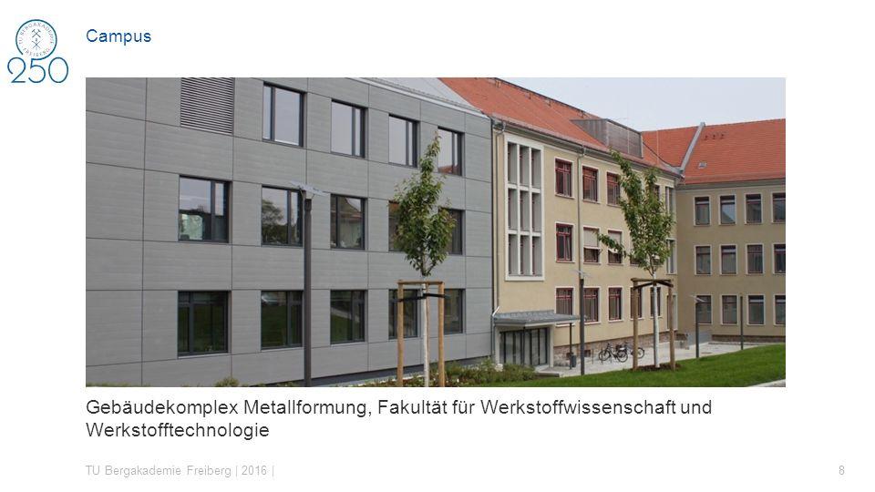 Campus Gebäudekomplex Metallformung, Fakultät für Werkstoffwissenschaft und Werkstofftechnologie.