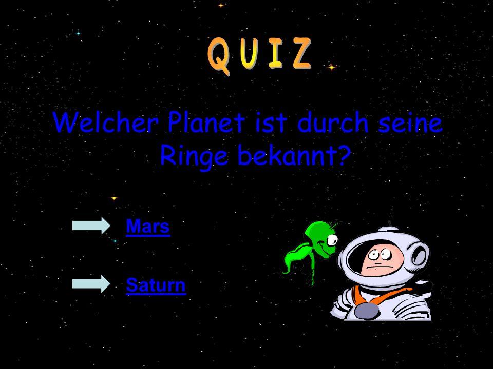 Welcher Planet ist durch seine Ringe bekannt