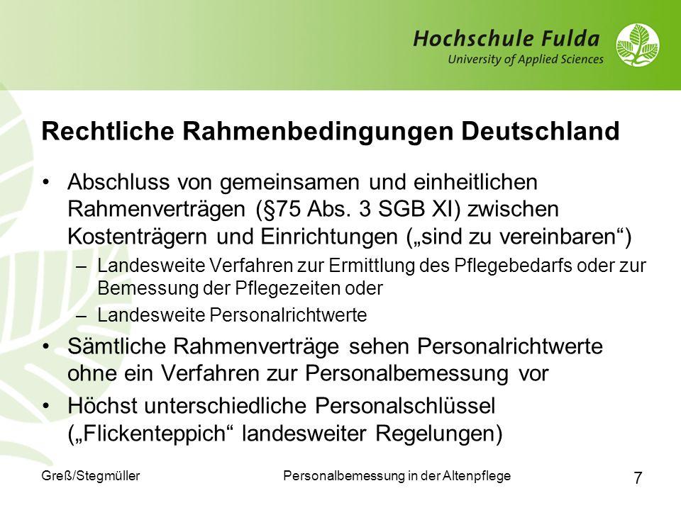 Rechtliche Rahmenbedingungen Deutschland